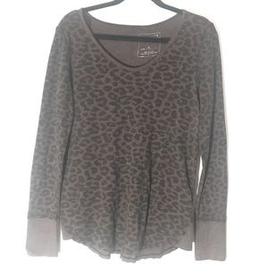 We The Free Leopard Thermal Shirt